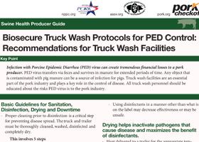 Biosecure Truck Wash Protocols