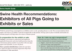 Swine Health Recommendation for Exhibitors