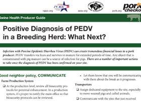 Positive Diagnosis of PEDV in a Breeding Herd: What Next?