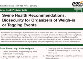 Swine Health Recommendations