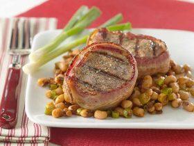 Bacon-Wrapped Pork Tenderloin with Texas Caviar