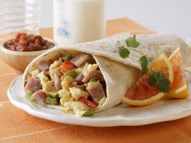 Ham & Egg Breakfast Burritos