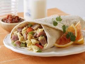 Ham & Egg Breakfast Burritos