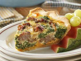 Sausage Spinach Quiche