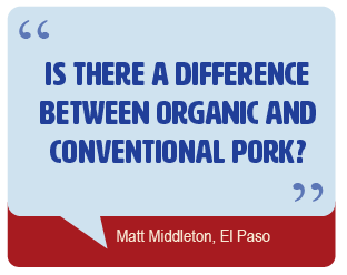 Is there a difference between organic and conventional pork?