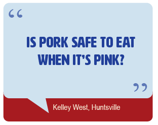 Is pork safe to eat when it's pink?